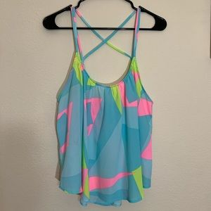 Lush | Cross Back Tank Top | L